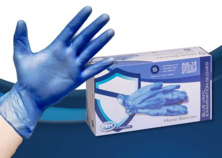 Blue Vinyl Examination Gloves