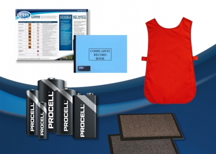 Staff Uniform, Batteries, Record Books, Matting, Pest Control, Fans & Ferrules