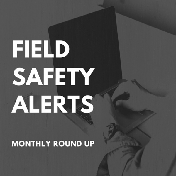 Field Safety Alerts for April [MHRA Updates]