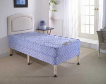 Single Bed Divan Set (Mattress & Base) With Headboard
