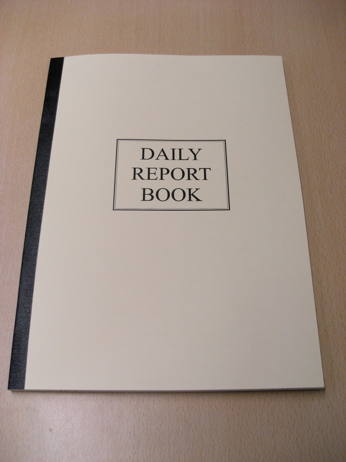 a4 daily report book clh group