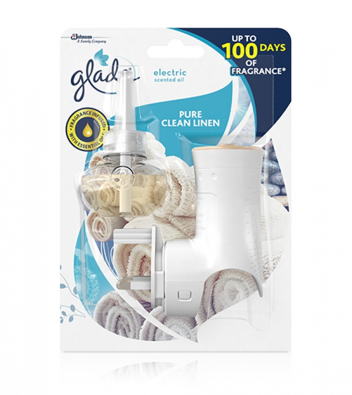 Glade electric complete clean linen air freshener for Air freshener plug in