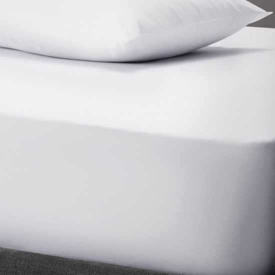 PolyCotton Flat Sheet, Double - White, 123508