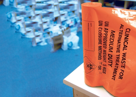 Orange Clinical Waste Bags Clh Group