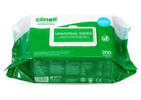 clinell® Universal Sanitising Wipes - Flow Pack