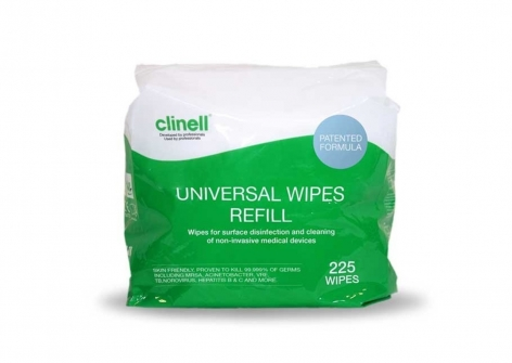clinell® Universal Sanitising Wipes - Tub Refill