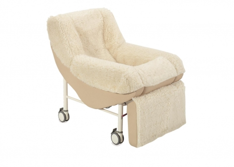 CQR Mobile Chair with Lambswool Cover