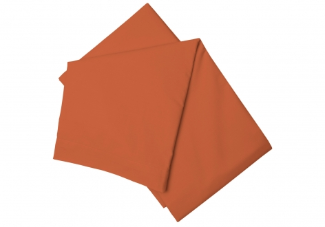 PolyCotton Fitted Sheet, Single - Terracotta