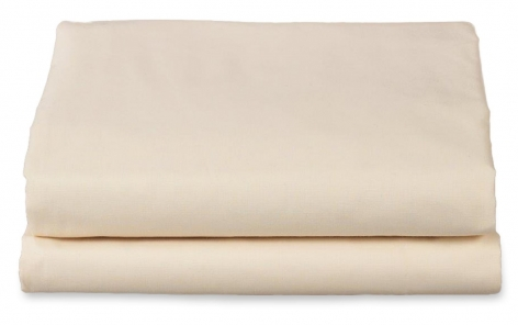 PolyCotton Flat Sheet, Fitted Sheet & H/W Pillowcase Set, Single(Twin)Cream/Bone