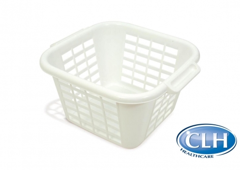 Square Laundry Basket, 24 Litre - Linen