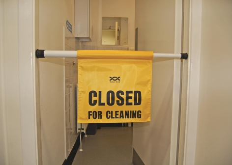 Yellow Wet Floor A Board Sign Cleaning Products