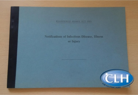 A5 Notification of Infectious Disease, Illness or Injury Book