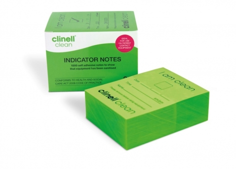 Clinell® Clean 'I am clean' Indicator Notes - Green