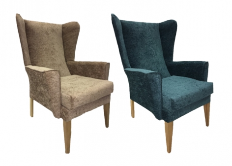 Albion High Back Wing Chairs