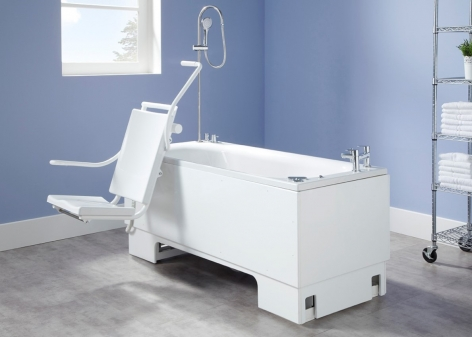 Excel 600 Height Adjustable Bath with Powered Seat