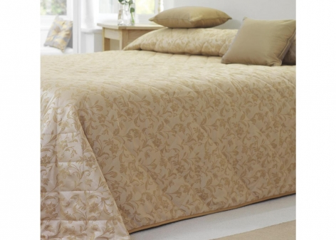 Single Quilted Bedspread - Sovereign Gold