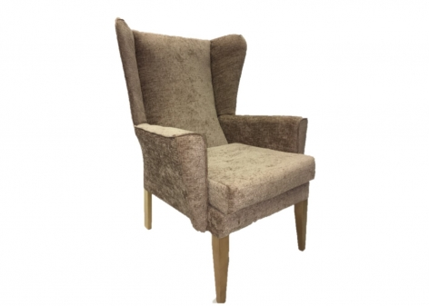 ALBION Lounge Chair in Agua Juno Mink Fabric