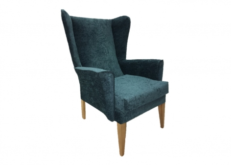 ALBION Lounge Chair in Agua Juno Teal Fabric