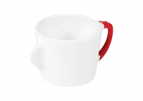 OMNI White Cup, 200ml - Red Handle