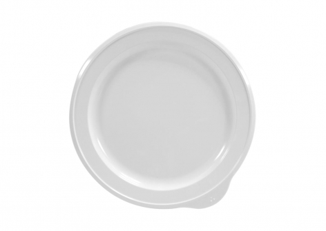 OMNI White Large Low Plate, 230mm - White Rim