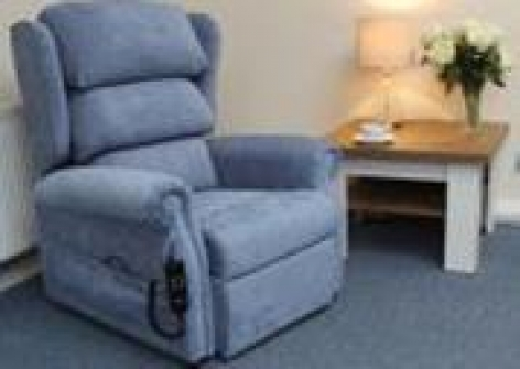 Dual Motor Rise Recline Chair with Waterfall Back & Memory Foam Cushion