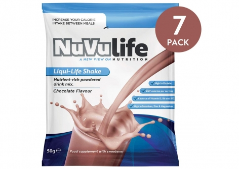 NuVulife Nutrient-Rich Drink Shakes - Chocolate Flavour