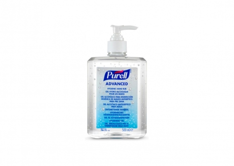9268 Purell Advanced 500ml Hand Rub Pump Dispenser Bottle