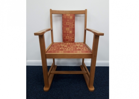 Patterned Dining Chair with Skis