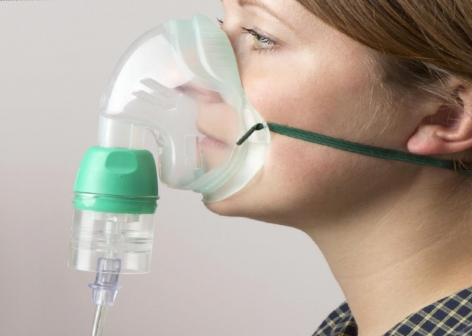 Adult Nebuliser Set, Mask, Chamber & 2.1 Metre Tubing