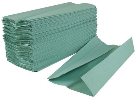 C-Fold Green Paper Hand Towels, 1 Ply