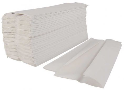 C-Fold White Paper Hand Towels, 2 Ply