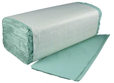 V-Fold Green Paper Hand Towels, 1 Ply