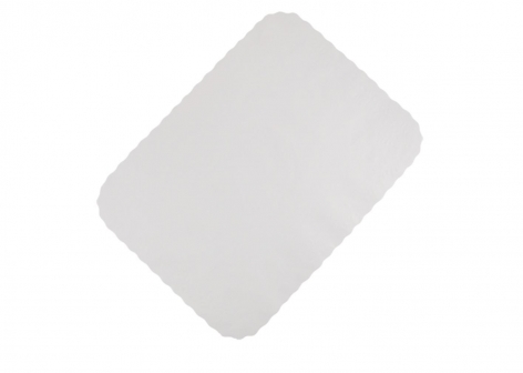 "12"" x 16"" White Paper Tray Covers"