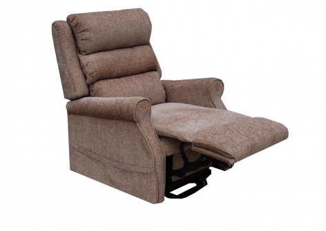 KINGSLEY Dual Motor Rise Recline Chair in OATMEAL Fabric