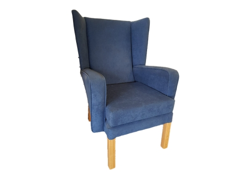 Victoria Chair in Blue with Wings