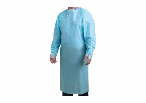 Disposable Blue Long Sleeve Gowns